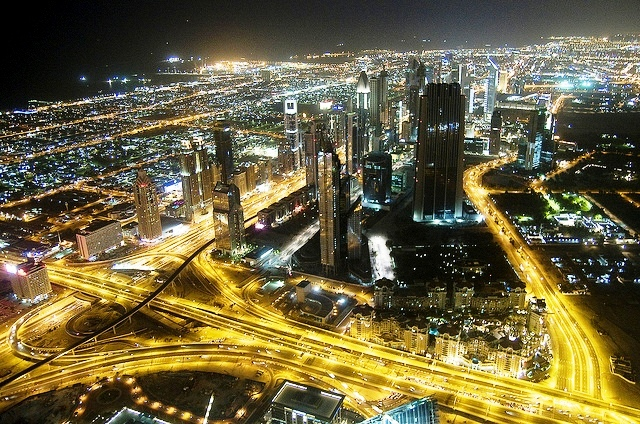 Dubai at night by crazydiamond