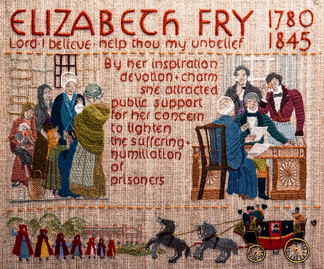 Elizabeth_Fry The Quaker Tapestry in Kendal