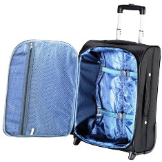 Falcon hand luggage bag open