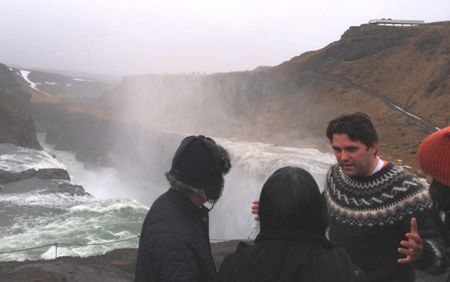 Guide at Gulfoss