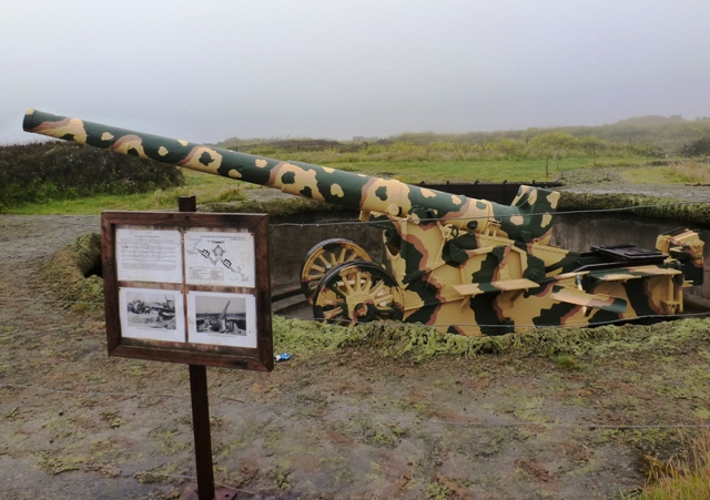 German Howitzer, Pleinmont Point