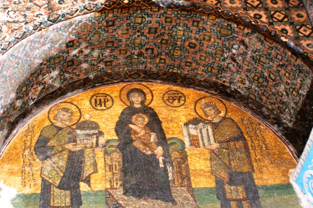 Virgin Mary and Christ mosaic, Hagia Sofia, Istanbul