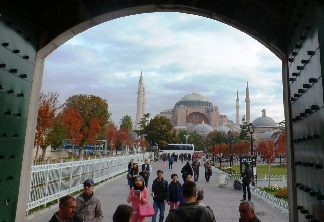 Hagia Sophia from Blue Mosque, Istanbul