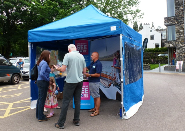 Go Lakes Information Tent