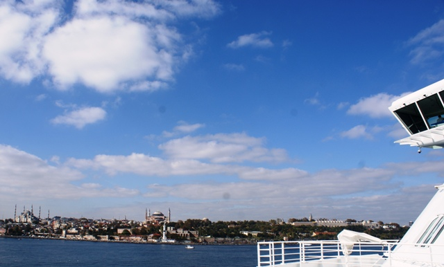 Istanbul and the Bosphorus from 'Celebrity Reflection'