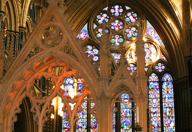 Lincoln Cathedral stained glass windows - image Zoe Dawes