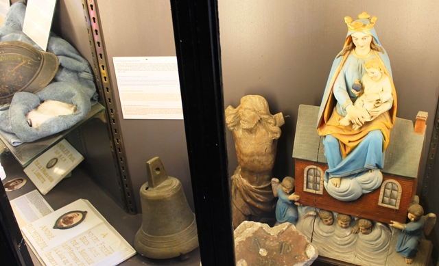 Madonna and war artefacts Notre-Dame de Lorette, France