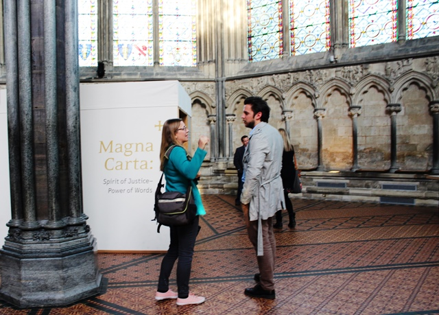Magna Carta in Salisbury Cathedral - photo Zoe Dawes www.thequirkytraveller.com