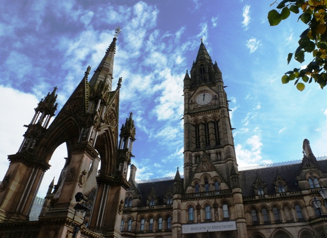 Manchester Town Hall and Memorial
