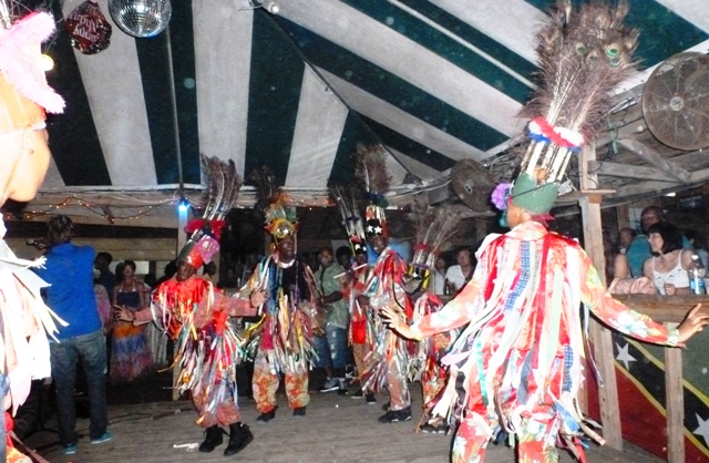 Masquerade dancers at Shiggidy Shack - St Kitts