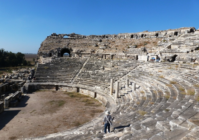 Miletus Theatre in Turkey - photo by Zoe Dawes
