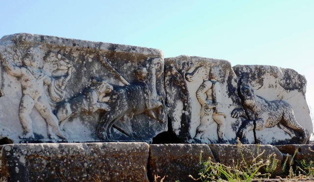 Miletus gladiators frieze, Turkey - photo by Zoe Dawes