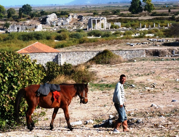 Man and horse by Miletus ruins, Turkey - photo by Zoe Dawes