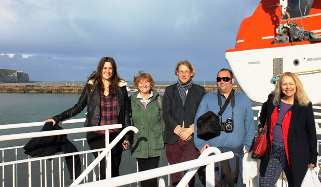 'My Ferry Link' bloggers at Dover