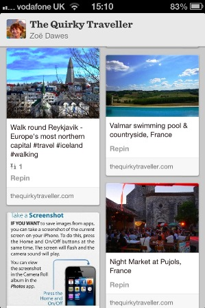 Pinterest Board The Quirky Traveller