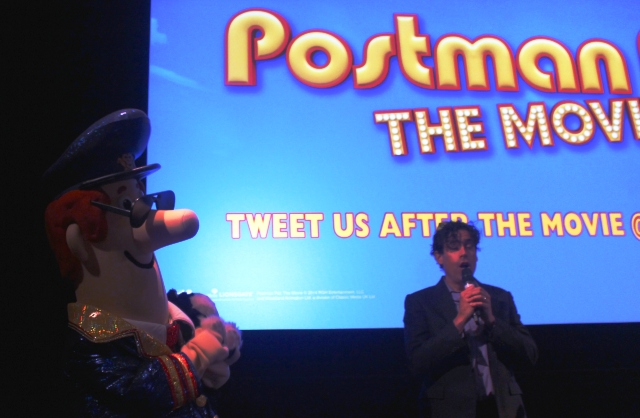Postman Pat and Stephen Mangan at fiolm premiere Kendal - photo Zoe Dawes