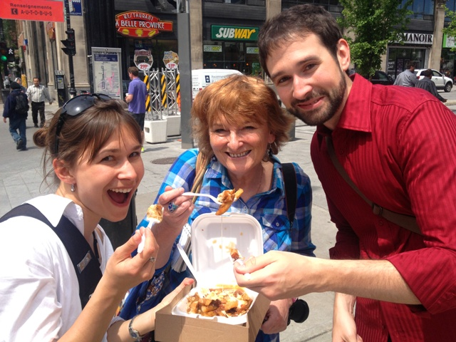 Poutine on the street - Montreal