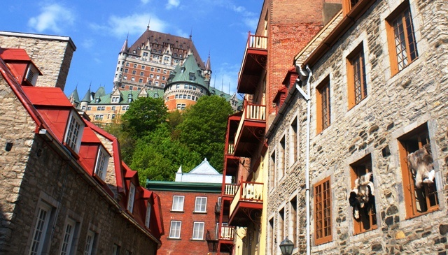 Quebec City and Le Chateau Frontenac - image Zoe Dawes