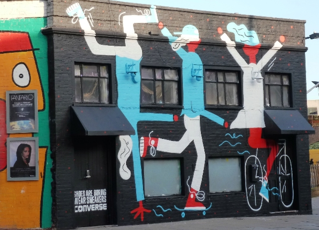 Quirky London graffitti - street art in Shoreditch - photo by Zoe Dawes