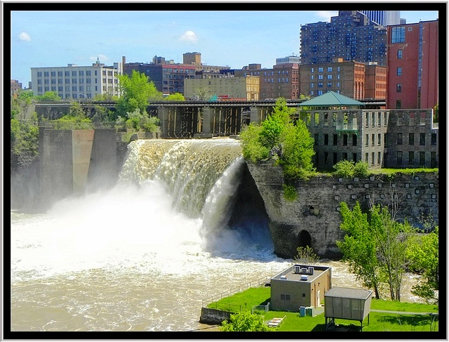 Rochester High Falls and Genoese Walls - by Onasill