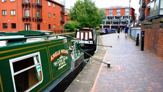'Silver Disk' canal boat in Birminghamam