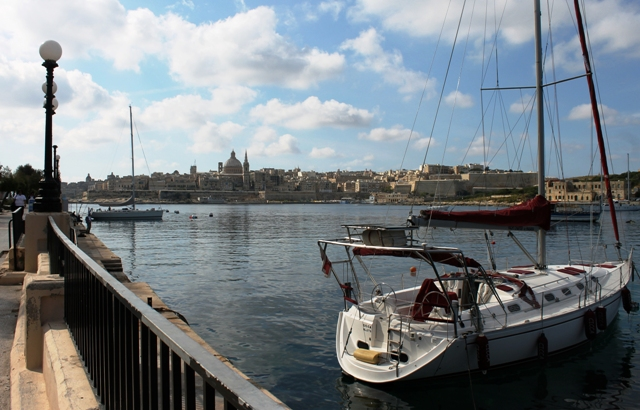 Sliema and Valetta harbour from Sliema Malta - image Zoe Daawes