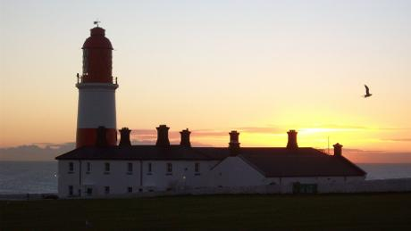 Souter Lighthouse at dusk - photo by National Trust
