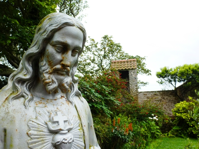 St Tugual garden Herm - by Zoe Dawes