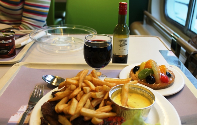 Steak and chips on 'My Ferry Link' Berlioz