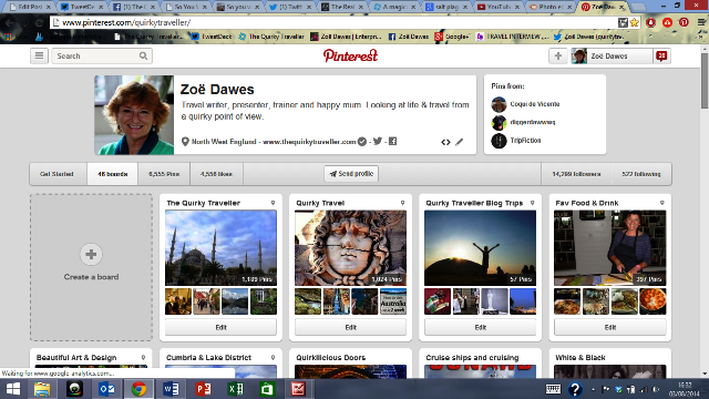 The Quirky Traveller Pinterest Boards