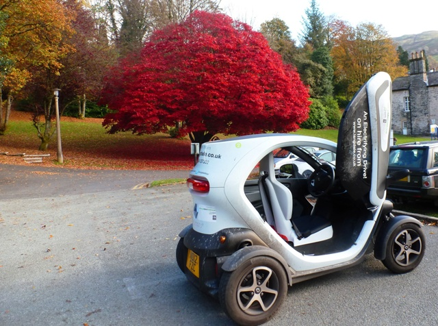 Twizy in Ambleside, Lake District, Cumbria - by Zoe Dawes