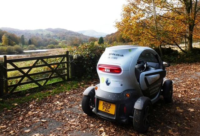 Twizy in the Langdale Valley, Lake District, Cumbria