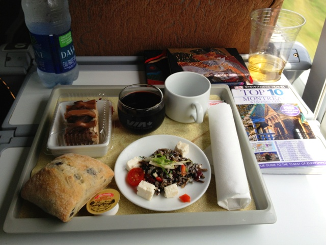 Via Rail lunch - Montreal to Quebec - by Zoe Dawes