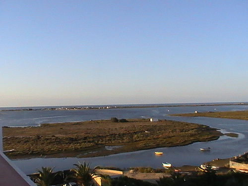 View of Ria Formosa from apartment