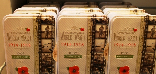 WWI biscuit tins