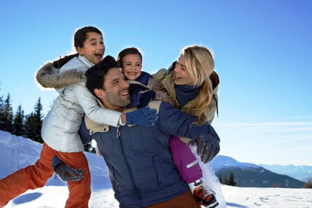 Family fun in the snow - luxury holiday