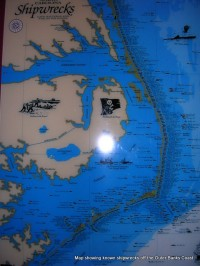 Map of shipwrecks by Island Momma
