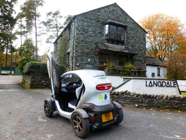 Twizy at the Langdale Estate, Lake District, Cumbria